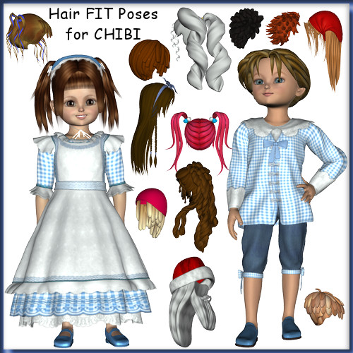 Hair Fits for Kids 4 Chibi